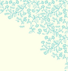 Cornflower flower contour background vector