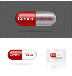 corona virus medicine mock up realistic vector image