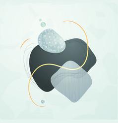 Creative minimalist hand drawn abstract vector