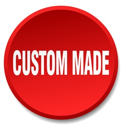 custom made red round flat isolated push button vector image