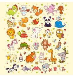 cute set animals vector image