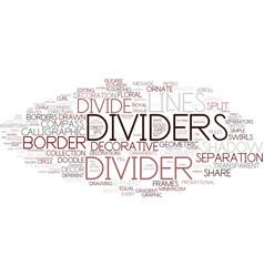 Divide word cloud concept vector