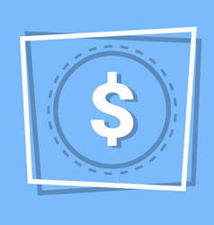 dollar sign icon currency web button vector image