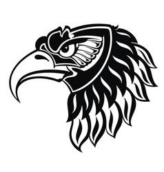 Eagle portait tattoo vector