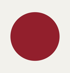 Flag Of Japan vector