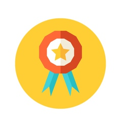 Flat award icon vector