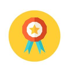 Flat award icon vector image