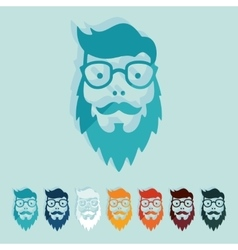 Flat design face male vector image