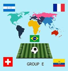 Group E - Switzerland Ecuador France Honduras vector