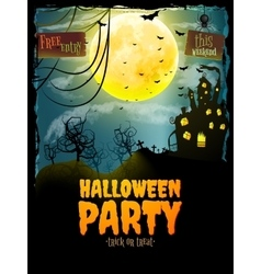 Halloween party poster EPS 10 vector image