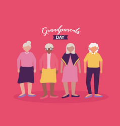 happy grandparents day flat design vector image