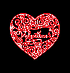 happy valentines day poster vector image