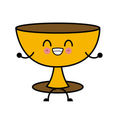 Holy chalice isolated kawaii cartoon vector