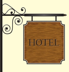Hotelski znak DRVO vector image