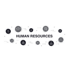 Human resources infographic 10 steps circle design vector