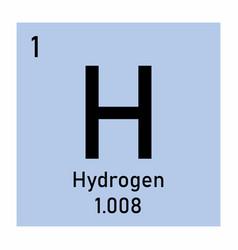 Hydrogen symbol vector