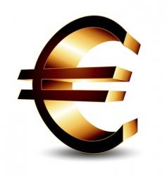 icon euro vector image