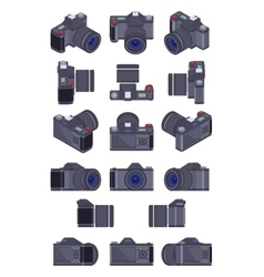 Isometric photo camera vector