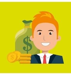 man money cash coins vector image