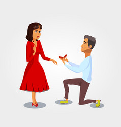 Marriage proposal engagement vector