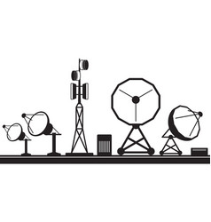 mobile communication base station vector image