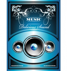Music flyer background vector
