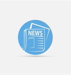 News newspaper icon vector