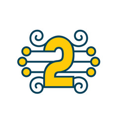 number 2 sign vector image