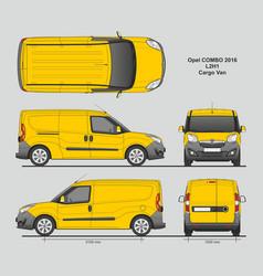 Opel combo 2016 l2h1 cargo delivery van vector