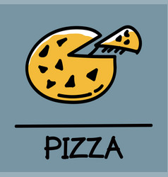 Pizza hand-drawn style vector