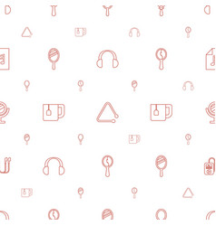 Portable icons pattern seamless white background vector