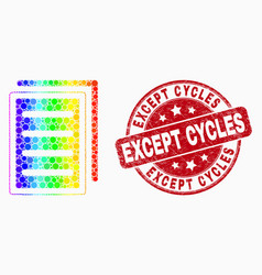 Rainbow colored dotted list page icon and vector