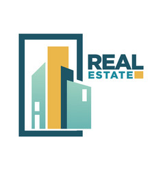 Real estate icon template for building vector
