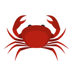 Red king crab icon isolated vector