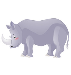Rhino with sharp horn vector