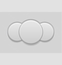 Round combo button empty interface 3d icon vector