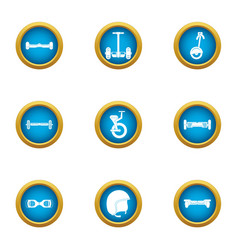 Rush icons set flat style vector