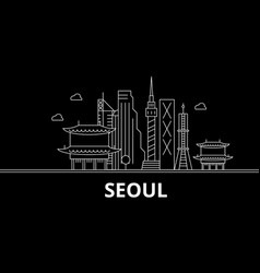seoul silhouette skyline south korea - seoul vector image
