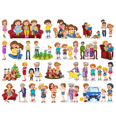 Set family member character vector