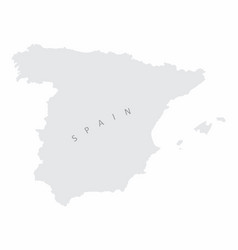 spain silhouette map vector image