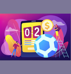Sports betting concept vector