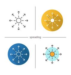 Spreading icon vector