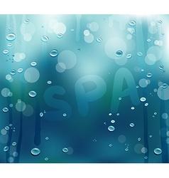 Steamy Spa Backdrop vector image