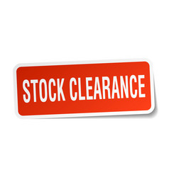 Stock clearance square sticker on white vector