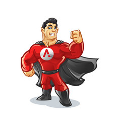 Supply hero mascot design vector