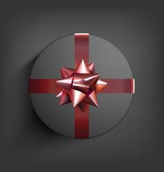 surprise gift box present ribbon birthday vector image