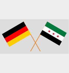 Syrian national coalition and germany flags vector