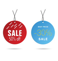 tag sale with best price on it set vector image