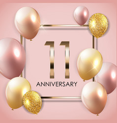Template 11 years anniversary background vector