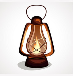 the cartoon is a miner s lantern vector image